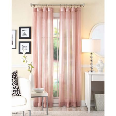 Better Homes and Gardens Shimmer Sheer Curtain Panel - Walmart.com ...