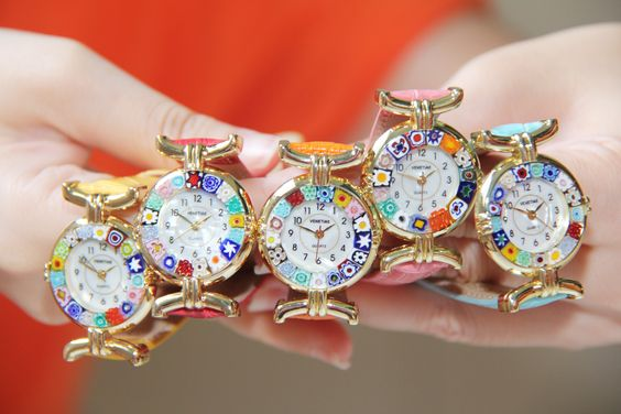 Murano Watches from Venice Available in gold and silver frames