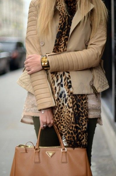 Animal print/Prada/Neutrals/Black/Cuff