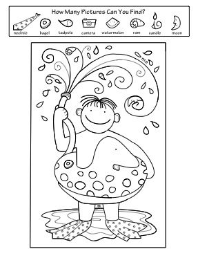 Summer Activity Coloring Pages Hidden pictures Summer and Coloring