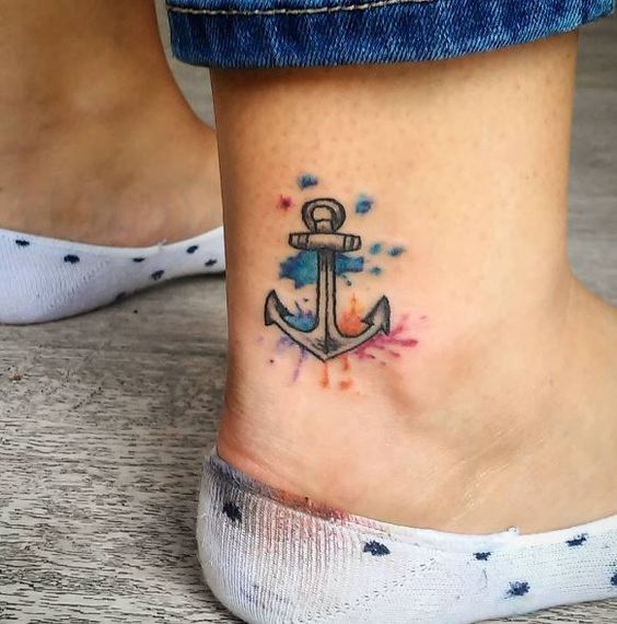 Tatuajes De Anclas 237 Fotos Significado Hombre Mujer Tatuajes De Anclas Tatuajes Tatuaje Tobillo Mujer