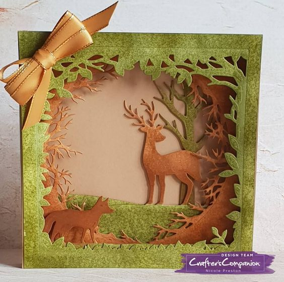 Dimensional Card made using Crafter's Companion Gemini Christmas Build-a-Scene die - Winter Time Designed by Nicole Preston. #crafterscompanion #ccgemini #christmas