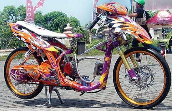 Modifikasi Motor Drag Paling Keren Di Indonesia Dunia