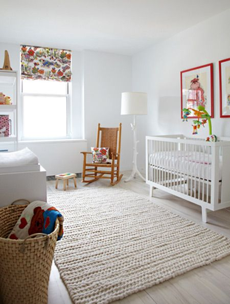 A Modern Nursery That 39 S White Warm Cable Wool And The