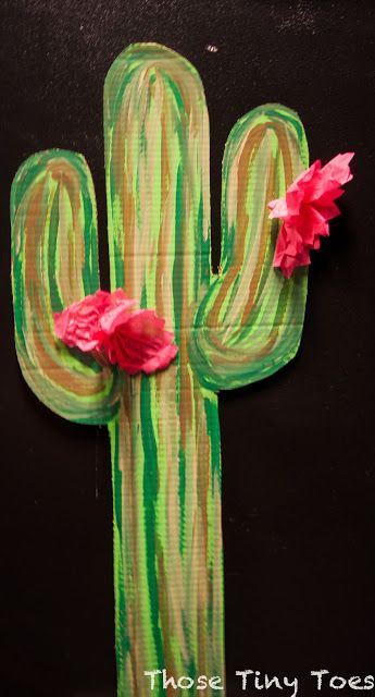 DIY Cardboard Cactus for Western Birthday Party. We could do this with foam pieces