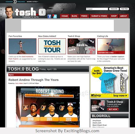 Tosh.0 Blog | Home of the Web Redemption, Video Breakdown, other viral videos and puke! - Click to visit site:  http://1.33x.us/ykcJRJ