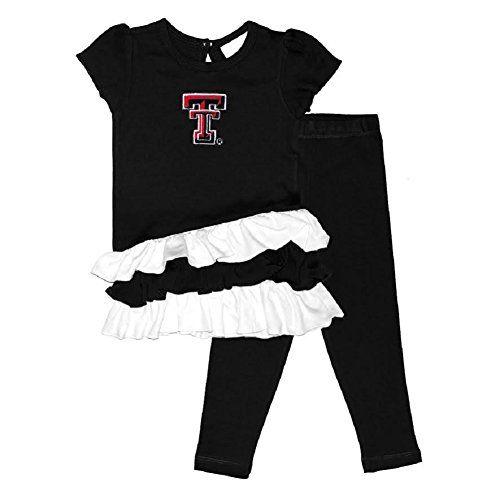Toddler Girls Texas Tech Bias Top