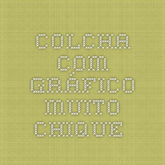 COLCHA COM GRÁFICO MUITO CHIQUE... .