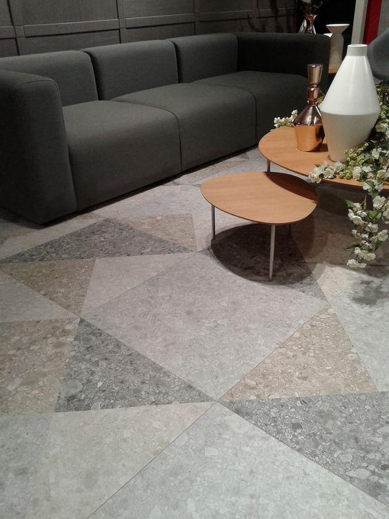 Vives Azulejos y Gres | Cersaie 2015 | Serie Ceppo di Gré #cersaie #vivesceramica #tiles #walls #yellow #home #decoration #style #porcelain #stone