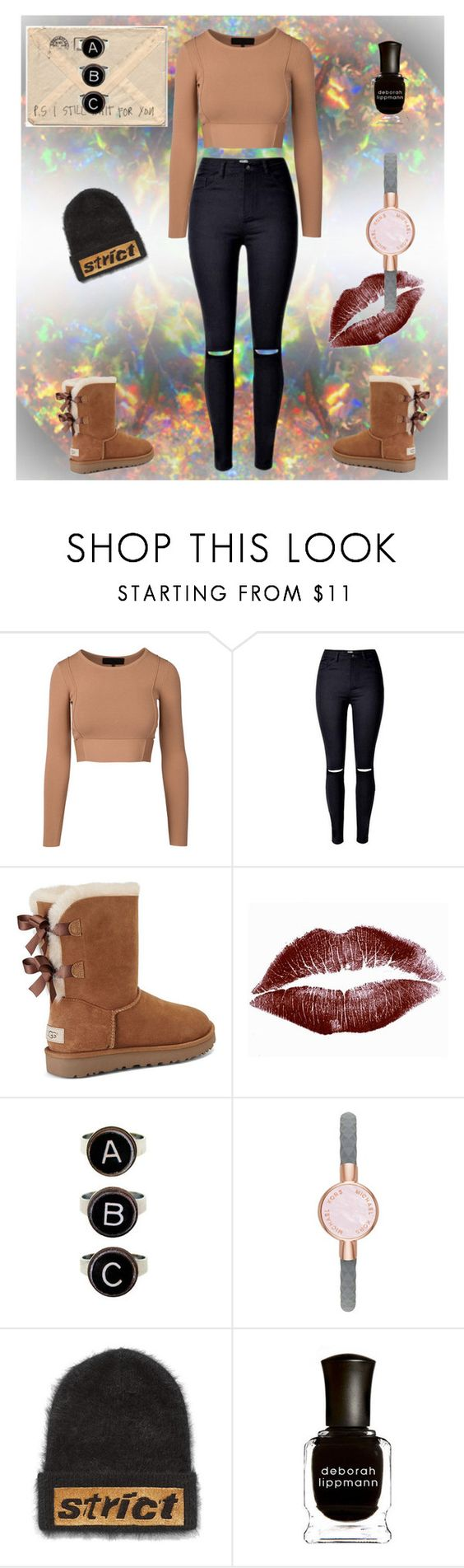 """""""Autumn"""" by stephshadowhunter ❤ liked on Polyvore featuring UGG, Rock 'N Rose, Michael Kors, Alexander Wang and Deborah Lippmann"""