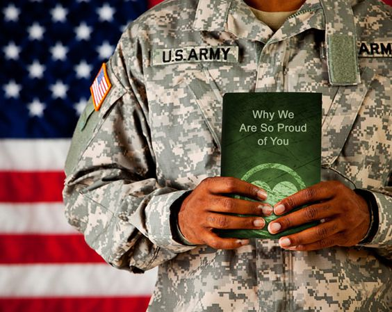 Military Gift | LoveBook Online | The Unique Personalized Gift That Says EXACTLY Why You Love Your Soldier