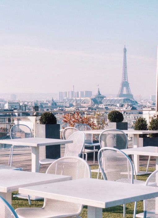 The rooftop view from Printemps, a Parisian department store: