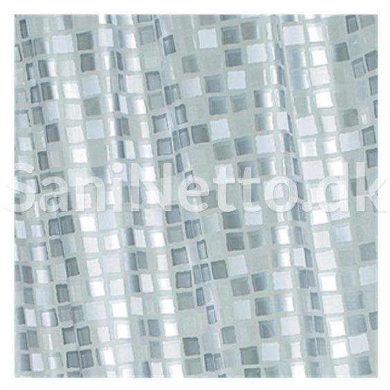 Croydex Badeforhæng Mosaik / Sølv