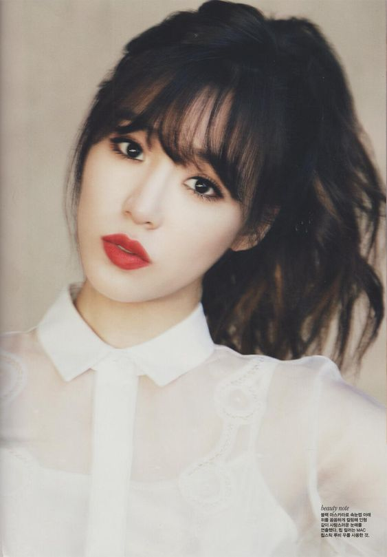 See Through Bangs - Google Search  Length  Color -5388