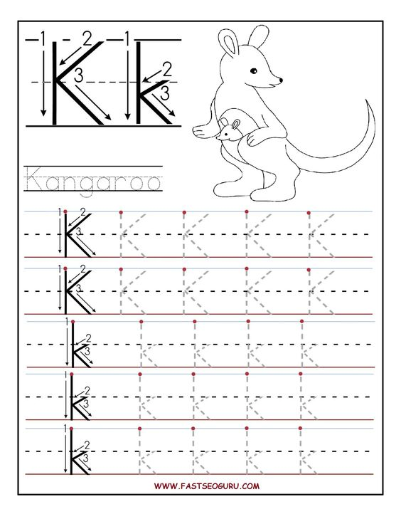 letter k printable letters and preschool on pinterest. Black Bedroom Furniture Sets. Home Design Ideas