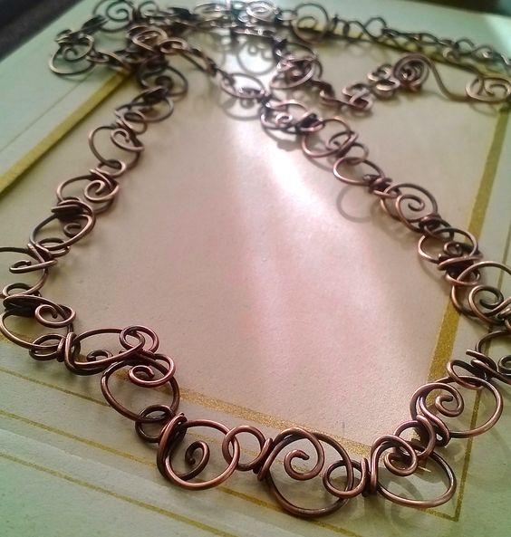 handwrapped copper chain  Venice Beach Adornments
