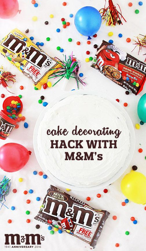 Who wouldn't love a scrumptious celebration dessert topped with their favorite M&M candy? We sure can't think of anyone! Plus, once you check out this simple and easy cake decorating hack using M&M's, you'll give all your special celebration sweet creations an adorable presentation inspired by this recipe idea. Find everything you need to make your own colorful treat at Kroger.