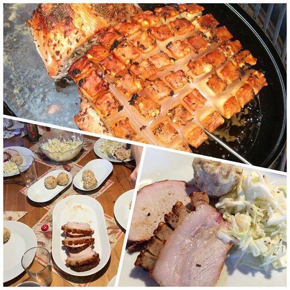 Happy New Year! We are having traditional #pork #roast today - for good luck! // Prosit Neujahr! bei uns gab es heute #Schweinsbraten - als Glücksbringer! #kamadojoe #grillroast #kamadogrill #kamadojoenation #neujahr #newyear2016 #schwäbischhällisches #popcornkruste #crispycrust #semmelknödel