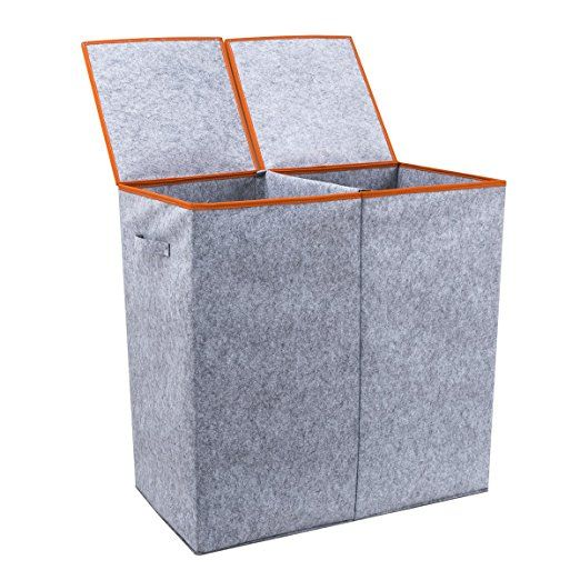 Chrislley Home Double Laundry Hamper With Lids And Easily To