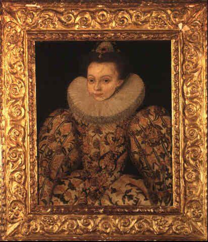 A portrait of a child, possibly Arbella Stuart. Arbella ...  A portrait of a...