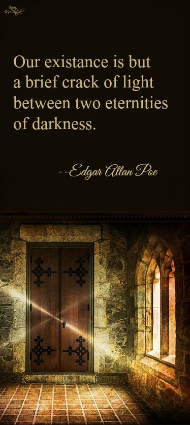 Poe quote @ Michael McClintock Poet, on Pinterest.