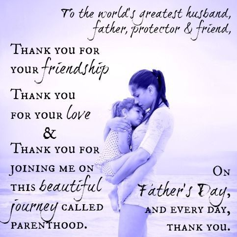 Father Day Quotes from wife | Events | Pinterest | Day ...