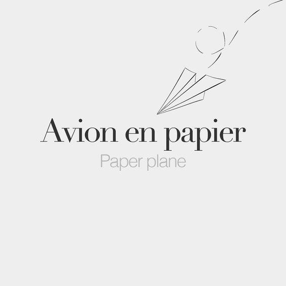 Avion en papier (masculine word)  Paper plane  /a.vjɔ ɑ pa.pje/  Drawing: @beaubonjoli