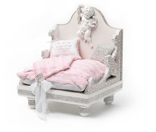 Swarovski Couture Bed Beds Blankets Furniture Furniture Style Beds Posh Puppy Boutique Lit Chien Diy Lit