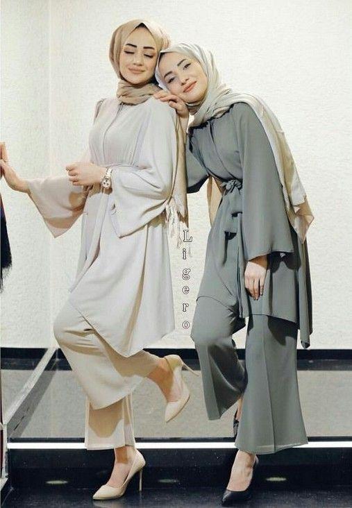 20 New Fashion Hijab Outfits Casual Muslim Di 2020 Pakaian Wanita Model Pakaian Hijab Model Pakaian Wanita