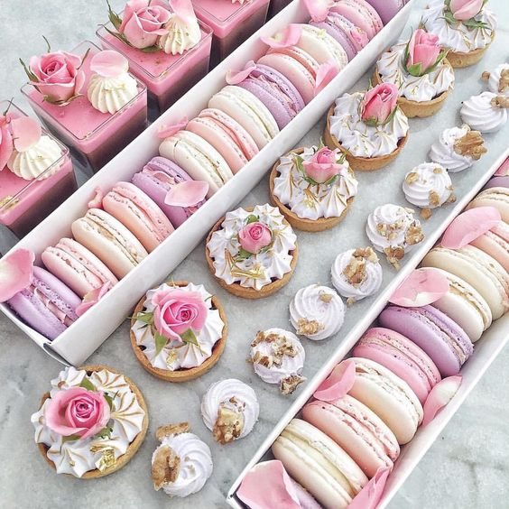 dianepenelope:  Dessert for the eyes! #Repost @le_pink_petite_patisserie__mkr ・・・ ~ Afternoon Tea Time ~