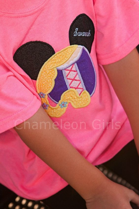 Tangled Rapunzel Mickey Mouse Head Disney Inspired T Shirt ...