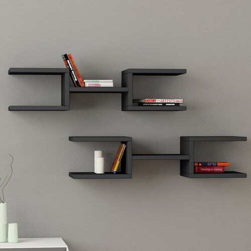 Wall Shelf Symple Stuff Finish Anthracite In 2020 Modern