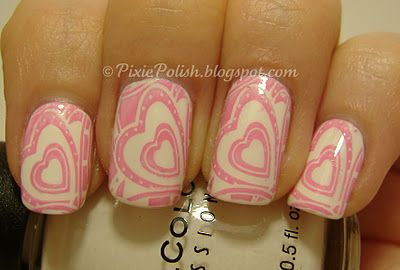 Valentines nails by Pixie Polish
