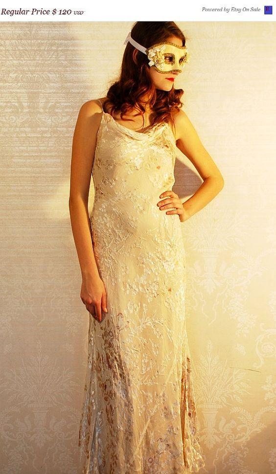 SALE / Wedding Maxi Dress / Women Maxi Dress by LadoreBoutiqueVtg, $56.00