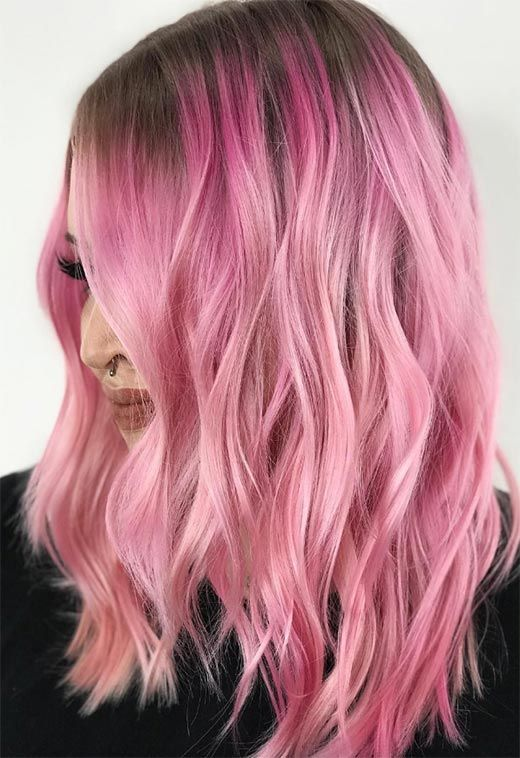 55 Lovely Pink Hair Colors Tips For Dyeing Hair Pink With Images