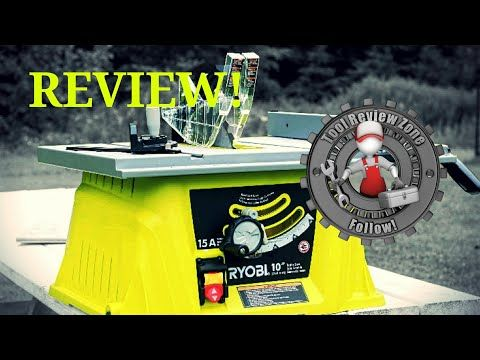 The Ryobi 10 In 15 Amp Table Saw Review Rts10ns Is One Powerful Saw For A Great Price Check Out Our Review Here Table Saw Reviews Ryobi Table Saw