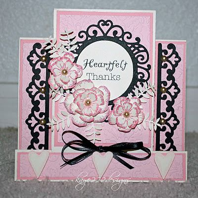 beautiful pink and black card: Step Card, Cards Step, Cards Flowers, Cards E I, Beautiful Cards, 123 Cards, Birthday Cards, Card Ideas, Stepper Card