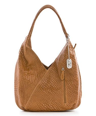 Love this Cuoio Basket-Weave Leather Hobo Bag on #zulily! #zulilyfinds