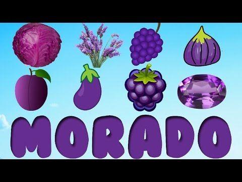 El Color Morado Para Ninos Cosas De Color Morado Youtube Color Activities Youtube Color