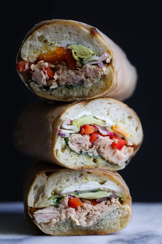 French Tuna or Chickpea Salad Sandwich (Pan Bagnat):