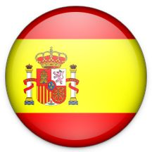 bandera españa circular