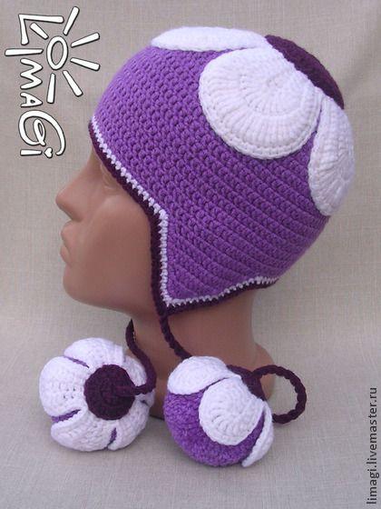 "Шапочка ""Белоснежка"" - описание - шапочка для девочки, теплая шапочка, шапочка вязаная:"