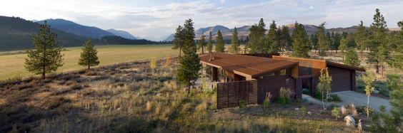 Lobo Cabin Creek Ver por Equilíbrio Associates Architects | HomeDSGN, uma fonte diária de inspiração e novas idéias sobre design de interiores e decoração de casa.