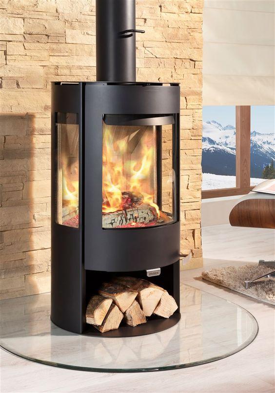 kaminofen aduro 9 6 mit holzfach schwarz wohnzimmer pinterest haus und warmherzig. Black Bedroom Furniture Sets. Home Design Ideas