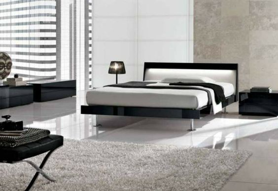 It takes two to tango – modern bedroom design in two color shades |  Minimalisti.com