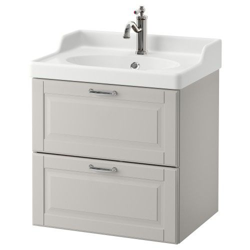 ארון לכיור עם 2 מגירות Godmorgon Rattviken Home Depot Bathroom