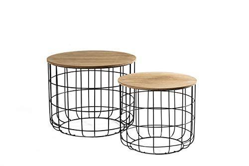 Lifa Living 2er Set Beistelltisch Aus Schwarzem Metall U Https Www Amazon De Dp B077p6d9r7 Ref Cm Sw R Pi Dp U X Side Table With Storage Side Table Table