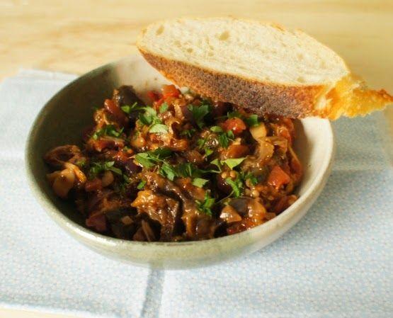 comida de quinta: caponata de beringela