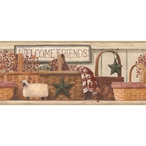 York Wallcoverings 9 in. Baskets Border-RF3607BD - The Home Depot