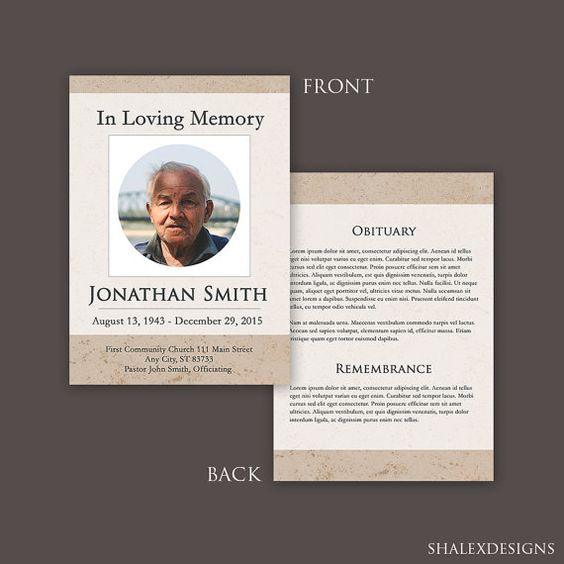 Funeral Program Template #Template #Photoshop Funeral Program - funeral brochure template